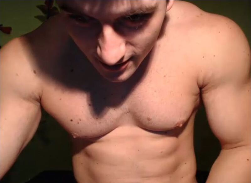 Screenshot of Ripped Webcam Guy Teasing Me