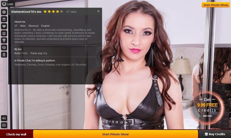 Sexy shemale model shares her bio on LiveJasmin.com