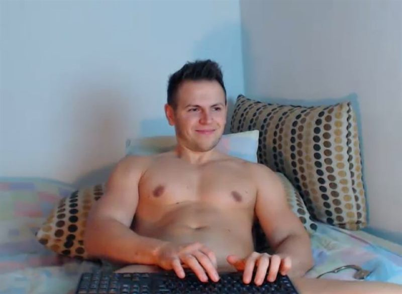 Screenshot of Brown Haired Sex Cam Guy
