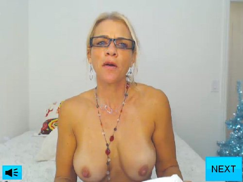 Topless Blonde Webcam Babe in Random Sex Chat