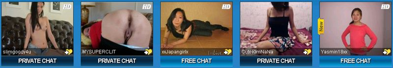 Screenshot of Asian Sex Cam Girls on Sexier.com