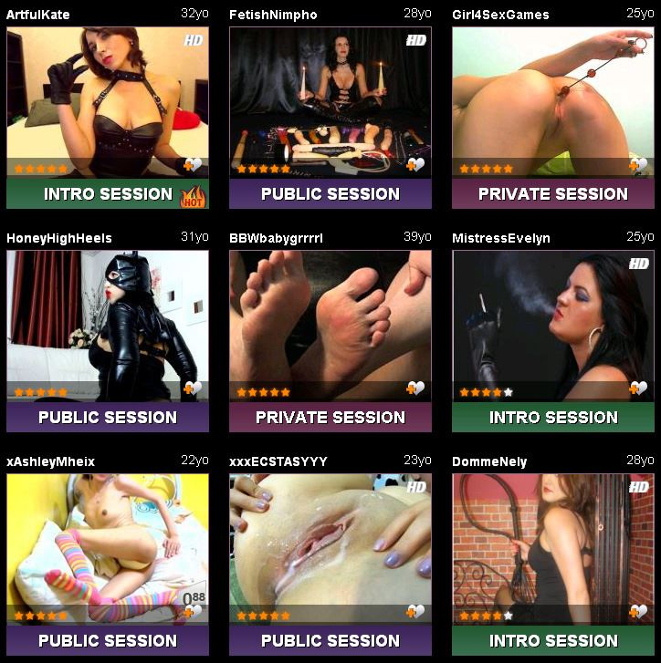 Screenshot of Fetish Sex Cam Rooms
