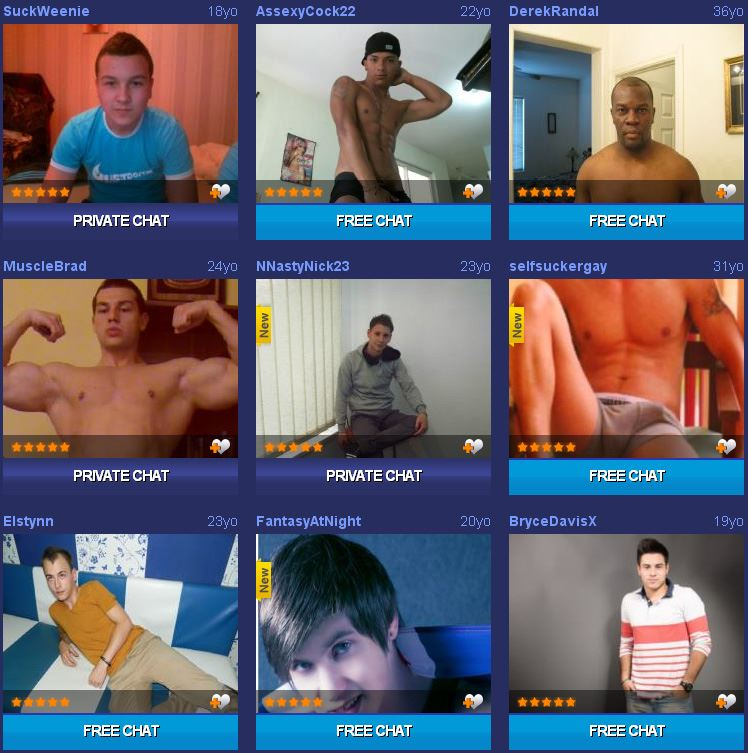 Screenshot of Hot Webcam Guys Waiting for You in Live Sex Rooms
